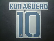 KUN AGUERO NOME+NUMERO HOME ATLETICO MADRID 2009-2010 OFFICIAL NAMESET