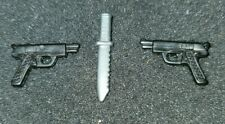 Vintage GI Joe Weapons Gun Knife 9mm Accessories Lot