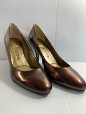 "CONNIE 3.5"" Heel Womens Shoes Size 8M Brown Bronze Patent NEW"