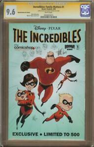 Incredibles #1 Mycomicshop Variant CGC 9.6 Signature Series MARCIO TAKARA Sketch