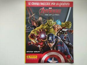 Avengers 2 l'ère d'Ultron - album Panini incomplet -6 avec poster - italien 2015