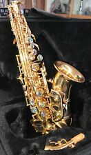 Soprano sax Saxophone  Curved design with Abalone shell keys Outstanding tone