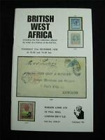 ROBSON LOWE AUCTION CATALOGUE 1978 BRITISH WEST AFRICA