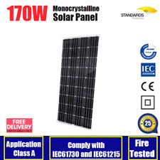 12V 170W MONO SOLAR PANEL HOME GENERATOR CARAVAN BOAT BATTERY CHARGING 170 WATT