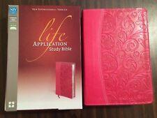 NIV Life Application Study Bible - Italian Duo Tone Pink - $74.99 Retail