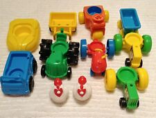 Vintage Fisher Price Tractor Farm Car Wagon Tricycle Chicken Boat Toys LOT of 11