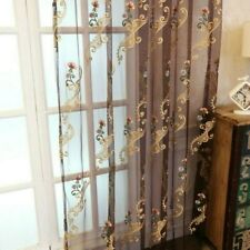 Damascus Embroidery Net Curtain Pelmet Lace Tulle Voile Window Panel Drape Sheer