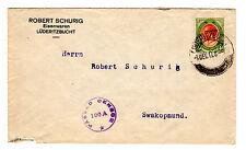 1917,Firmenbrief von Lüderitzbucht, frankiert mit 4 P. vom 7.12. nach Swakopmund