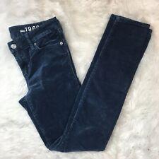 Gap 1969 Women's Gray Blue Always Skinny Corduroy Jeans Pants Size 25