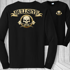 Darts skull long sleeve t-shirt - dart throwing dartboard crossbones tee shirt