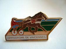PINS VINTAGE HIPPODROME DE VINCENNES PARIS COURSE CHEVAL SULKY wxc 4