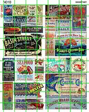 N010 DAVE'S N SCALE DECALS GHOST SIGN ADVERTISING SEAFOOD HARBOR DOCK OYSTERS