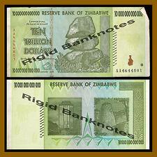 Zimbabwe 10 Trillion Dollars, 2008 AA Circulated, 100 Trillion Series