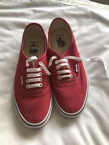 Vans Men's Trainers Size 10 Red Colour