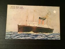 White Star Line Twin Screw RMS Cedric not posted