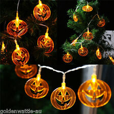 10 Pumpkins LED String Light Pumpkin Lights for Halloween Decoration Party