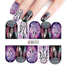 Nail Art Sticker Water Decals Transfer Stickers Mystic PURPLE Dreamcatchers 311