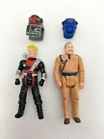 M.A.S.K Kenner x 2 figures complete with masks 1980s toys