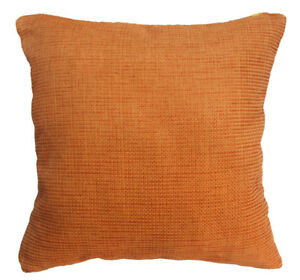 Qe02a Red Ginger Brown Rough Cotton Blend Sofa Cushion Cover/Pillow Case