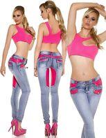 New Women Skinny Jeans Clubbing Ladies Stretch Denim Trouser Size 6 8 10 12 14