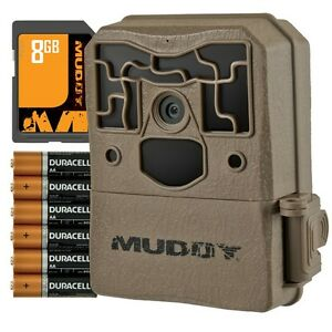 MUDDY PRO CAM 10 GAME TRAIL CAMERA BUNDLED PACKAGE WITH 8GB MEMORY CARD AND BATT