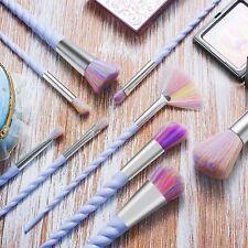 10pcs Unicorn Spiral Makeup Brushes Set Eyeshadow Powder Brushes kit