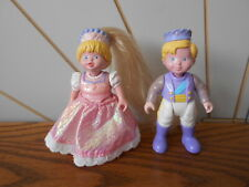 PRINCE AND PRINCESS toy figure pair ONCE UPON A DREAM CASTLE Fisher Price 1995