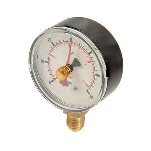 WIKA PRESSURE GAUGE AIR OIL WATER 0-4bar 0-60psi 63mm DIAL HYDRAULIC PNEUMATIC