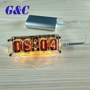IN-12A/B Nixie Magic Eye Clock 4-Bit Glow Tube Clock DS3231 W/ Colorful LED