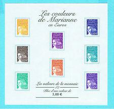 DCI -Timbre de France Bloc N° 44 NEUF LUXE ** Les Couleurs de Marianne en Euros