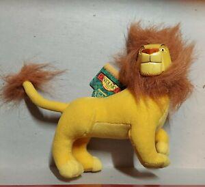 The Lion King Mufasa mini vinyl Plush Doll 96 vtg disney stuffed  applause w tag