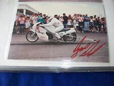 Dyno DAVE - Ed Schmidt Racing - 6x4 Autographed NHRA Drag Bike 1990s photo