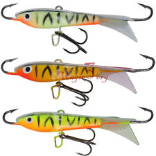 5/16oz Ice Fishing Jigs Rap Winter Fishing Lures Treble Belly Hook Bass Pike
