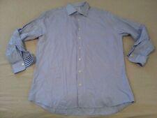 Mens Charles Tyrwhitt Dress Shirt 18 37 Slim Blue Button Cotton