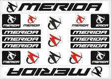 Merida Mountain Bicycle Frame Decals Stickers Graphic Adhesive Set Vinyl Black