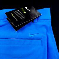 NIKE Mens Dri-Fit Performance Stretch Golf Shorts Standard Fit Blue