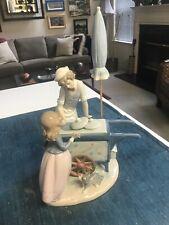 "Superb 12 1/2"" Lladro #5325 Ice Cream Vendor Boy & Girl Figurine Glazed Mint"