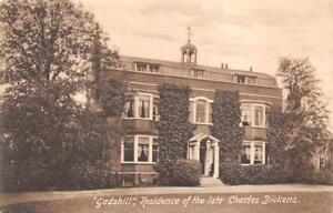 GADS HILL RESIDENCE OF THE LATE CHARLES DICKENS ENGLAND KENT UK POSTCARD (1910)