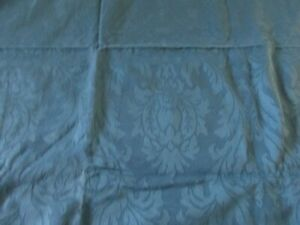Blue and Navy Tone on Tone Floral SHADOW Print 4 PLUS YARDS COTTON UPHOLSTERY