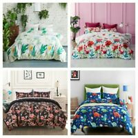 3Pieces Duvet Cover Set For Comforter Queen King Size Bedding Set US