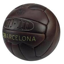 FC Barcelona in pelle stile retrò vintage Heritage Football Taglia 5