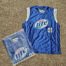 (L) Miller Lite Beer Nba BasketballSilk Jersey Men's - New