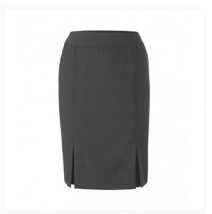 Stylecorp Ladies Front Inverted Pleat Skirt Charcoal Size 12 - Y41064
