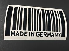 STICKER MADE IN GERMANY code barre  POUR BMW R1150 1200RT K1200 S1000RR F800R