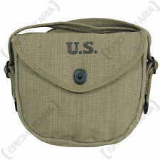US Army WW2 Thompson DRUM Magazine Pouch - American Ammo Carrier Repro