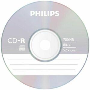 10 x Philips Blank CD-R Disc (52x 80min 700MB) Data/Audio CD Discs Recordable