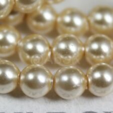 100 pcs Swarovski Element 5810 3mm Round Ball Crystal Pearl Beads - Light Gold