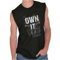 Firearms USA 2nd Amendment Bear Arms Right Adult Sleeveless Crewneck T Shirt