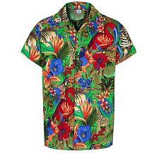 MENS HAWAIIAN SHIRT JUNGLE THEMED PARTY HOLIDAY BEACH FANCY DRESS STAG DO