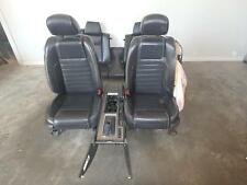 09-13 FORD MUSTANG GT FRONT SEAT BLACK LEATHER POWER OEM